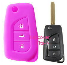 PURPLE SILICONE CAR KEY COVER for TOYOTA CAMRY COROLLA SPORT 2013 2014 ASCENT
