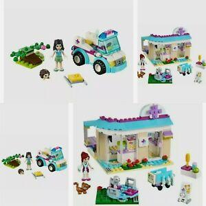 100% Complete Lego friends vet bundle, clinic & ambulance 41085, 41086