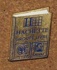 """Vintage PIN  HACHETTE GROUPE LIVRE BOOK GROLIER SALVAT RARE 1.3"""""""