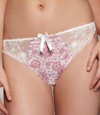 FANTASIE KRISTEN THONG SIZE S 10 12 PINK IVORY LACE KNICKERS PANTS 2197 NEW