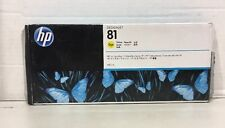 Genuine New HP C4933A 81 Yellow Ink Sealed Cartridge for Designjet 5000 5500 OEM