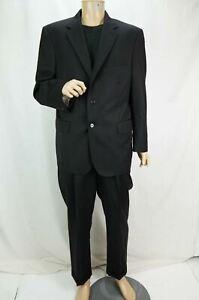 Jos. A. Bank Signature Gold Suit Men's 2-Piece Two Button Black 43R