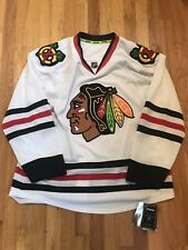 13b046f6a Chicago Blackhawks Authentic Reebok Center Ice White Road Jersey Size 50