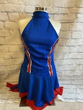 Cheerleading Uniform Blue Red White Adult M