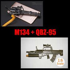 """1:6 1/6 Scale Assemble Gun Weapon M134+QBZ-95 Fit 12"""" Action Figures"""