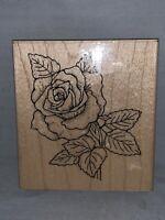 JRL Design Wood Mounted Rubber Stamp - Rose Romance, R172 Flower Scrapbooking