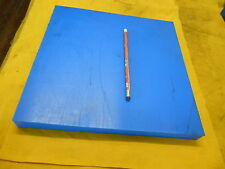 BLUE NYLON FLAT STOCK machineable plastic bar sheet plate 1.100