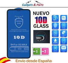 "Protector Pantalla iPhone XS Max 6.5"" Negro  10D Premium AAA+++ Cristal"