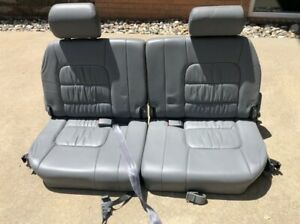 Toyota Lexus LX470 Land Cruiser Rear Third 3rd Row Leather Seats Gray color