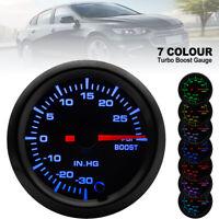 Universal 52mm Psi Car 7 Color LED Pressure Vacuum Turbo Boost Gauge Meter 12V
