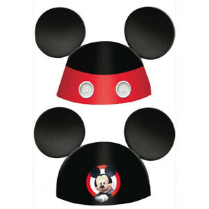 Mickey Mouse Party Hats Birthday Favor Supplies (8) Mickey On the Go Paper Ears