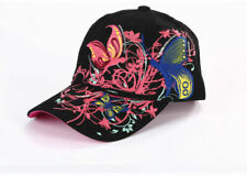 2 Color Fashion Baseball Cap Hats For Women Snapback Butterflies Flowers FemaLe