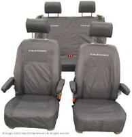 VW California Ocean Inka Fully Tailored Waterproof Seat Covers Grey Fits T6 & T5