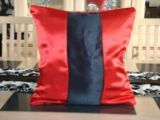 RED AND BLACK SATIN DESIGN CUSHION COVER