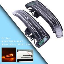 New Pair Mirror Turn Signal Light LED Fit For Mercedes Benz W204 W212 W221 S400