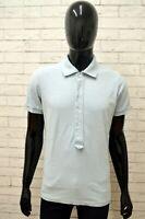 Polo REPLAY Uomo Taglia Size M Maglia Camicia Shirt Man Cotone Blu Manica Corta