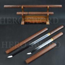 Handmade Japanese samurai sword set Wakizashi+Tanto T1095 high carbon steel blad