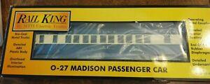 MTH RK30-6259 Illuminated Interior Jersey Central Blue Comet Madison Coach CarOB