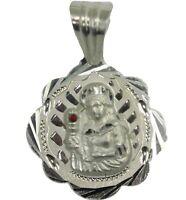 San Lazaro .925 Sterling Silver Pendant-Charm-Dije Babalu Aye Plata .925 Made in USA