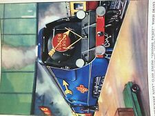 m17a4 ephemera book plate railway steam train engine golden arrow channel