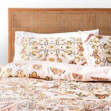 BOHO Pink Peach Desert Rose Medallion Comforter Set Full/Queen 3pc Opalhouse New