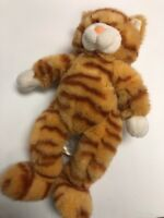 "Build-A-Bear 17"" Tabby Orange Kitty Cat Retired Striped Plush Stuffed BABW a"