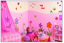 FunToSee Funky Flowers Children's Wall Decals, Flower Fantasy