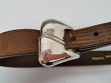 Vintage Barry Kieselstein Large Sterling Winchester Buckle & Lizard Belt $895