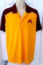 Minnesota Golden Gophers Adult Polo Shirt Medium Golf Embroidered Logos New