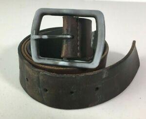 American Eagle Brown Mens Belt Sz 38 40 Gray Buckle