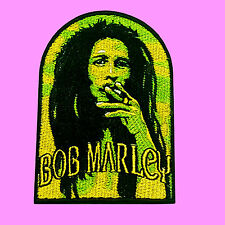 Bob Marley Face Reggae Music Hippie Jamaica Rasta Iron On Embroidered Patch