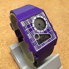 Target Mens Purple LCD Analog Digital Alarm Chrono Quartz Watch Hour~New Battery