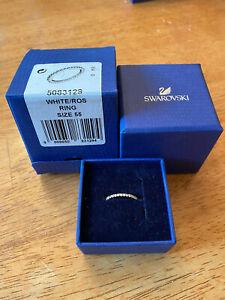 Swarovski Women's Vittore White Crystals, Rose Gold Tone Plated Ring (5083129)