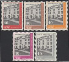 Perú 513/17 1970 Ministerio de transporte y comunicaciones MNH