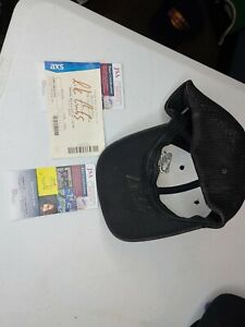 Luke Combs worn hat and ticket stub SIGNED JSA Certification on both!