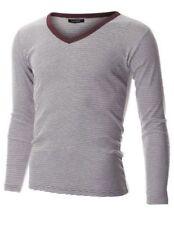 Camicie casual e maglie da uomo a manica lunga con scollo a v taglia M