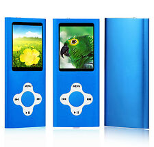 MP3 Player Music Media 8GB With Radio, Voice Recorder, Games 4th Generation-Blue
