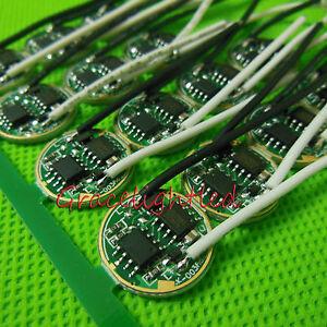 1pc 16mm 3.7V LED Driver for High Power Cree 10W XML T5 T6 U2 L2 LED Bead DIY