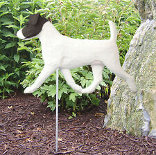 Jack Russell Terrier Outdoor Garden Dog Sign Hand Painted Figure Black/White