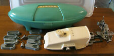 Vtg.Singer Hand Held Sewing Machine (Button Holer?) Case Untested Attachments