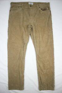 Copper & Oak Men's Corduroy Jeans Brown Straight Leg Stretch Size 38x32