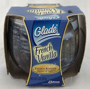 Glade French Vanilla Scented Candle 4 Oz Thomas Kinkade  2005