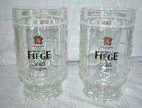 Vintage Moritz Fiege Pils Beer Mugs with Handles 2 German Beer Galsses