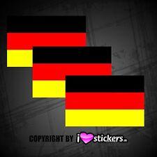 3x Deutschland Fahne Sticker Flagge 2018 Fussball Auto Aufkleber WM-001