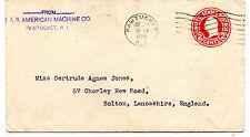 Estados Unidos Sobre entero postal año 1920 (BD-510)