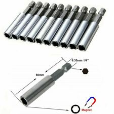 """10 Stück Bithalter Magnet 1//4/"""" Bits Halterung Bitaufnahme magnetisch Bohrer 3-10"""