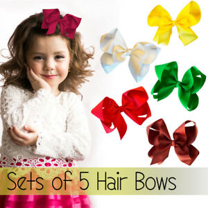 """5 x 6"""" Large Hair Bows Jojo Style for Girls Teens Kids Large School Dance Party"""