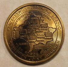 Operation Joint Guardian Kosovo NATO Military Bronze Challenge Coin