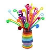 100x Mixed Colours Chenille Sticks Pipe Cleaners Assorted Craft Colours P4D2