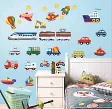 Car Train Truck Boat Plane Digger Wall Sticker Decal Vinyl Art Home Decor